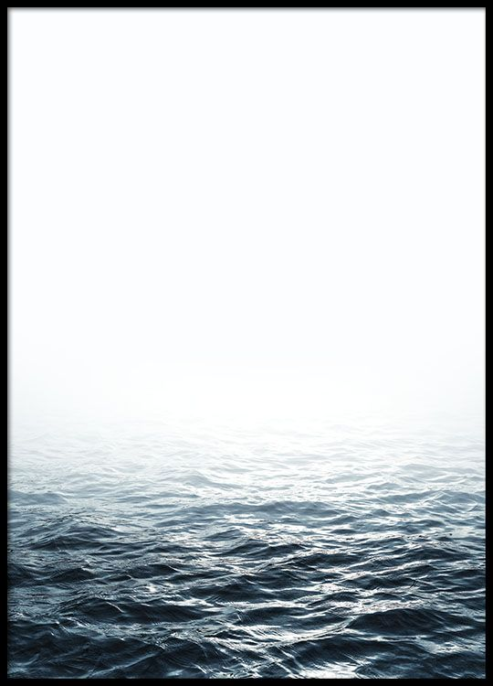 Plakat med et bilde av havet