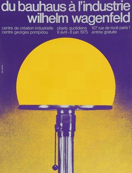 Jean WIDMER - CCI du Bauhaus à l'Industrie Wilhem Wagenfeld, Affiches et Arts Graphiques à Ader | Ader