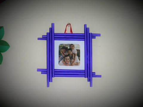 DIY | How to make Photo Frame at home | Cardboard Photo Frame | Best out of waste - YouTube