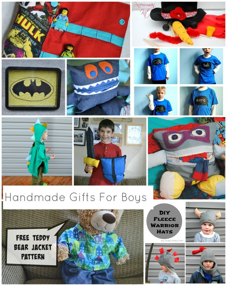 Handmade Gifts For Boys Wrap Up (30+ tutorials) and Etsy Finds