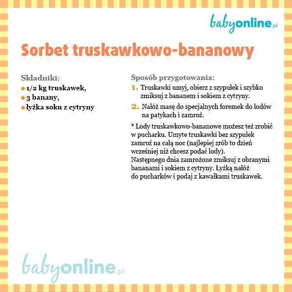 Sorbet truskawkowo-bananowy