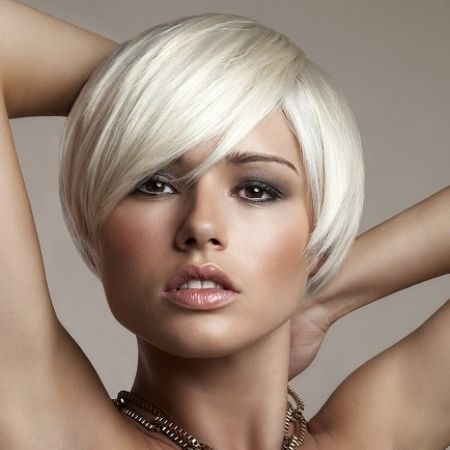 blonde hairstyles for short hair on women with square faces ...