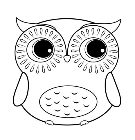 cartoon owl coloring page - Coloring Paper