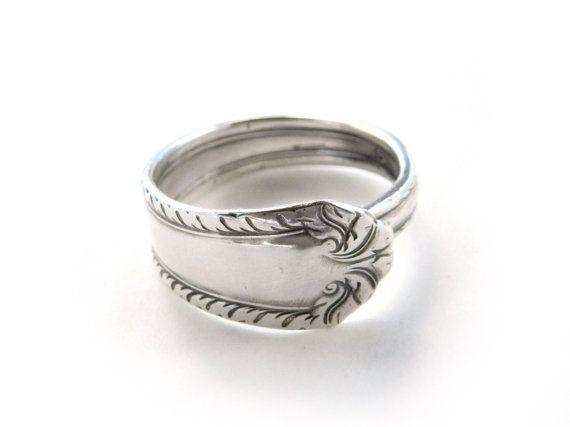 Elegant Silver Spoon Ring Size Spoon Ring Silverware by myDurangoRose