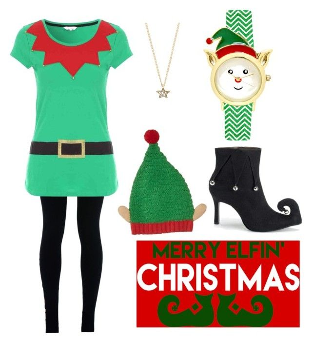 """""""Santa's Little Helper"""" by balletlover15 ❤ liked on Polyvore featuring NIKE and Topshop"""