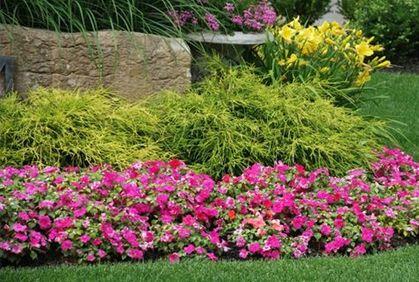 Simple Flower Garden Beds Gardening Flowers Design Ideas