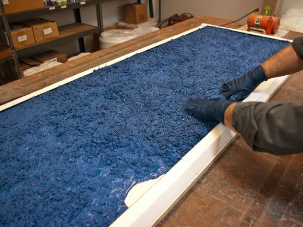 Workshop Countertop Materials : about Glass Countertops on Pinterest Glass concrete countertops ...