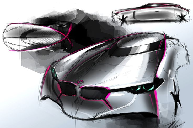 BMW sketch 3 by TonyWcK.deviantart.com on @deviantART | Tutoriais, Auto, Carros