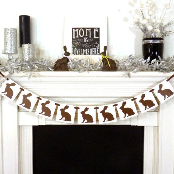 Happy Easter Decoration / Chocolate Bunnies by BannerCheerJR