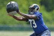 The St. Louis Rams' roster includes six rookie offensive linemen. Greg Robinson can relate.