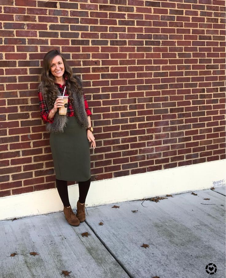 "245 Likes, 2 Comments - Heather (@savvyskirtgirl) on Instagram: ""Fur, plaid, leggings and iced coffee ❤️ Need I say more?!? #praisebreak #icedcoffeeislife My…"""