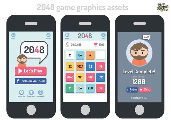 2048 Game Style Gui Assets by DeLaGranSiete on Creative Market