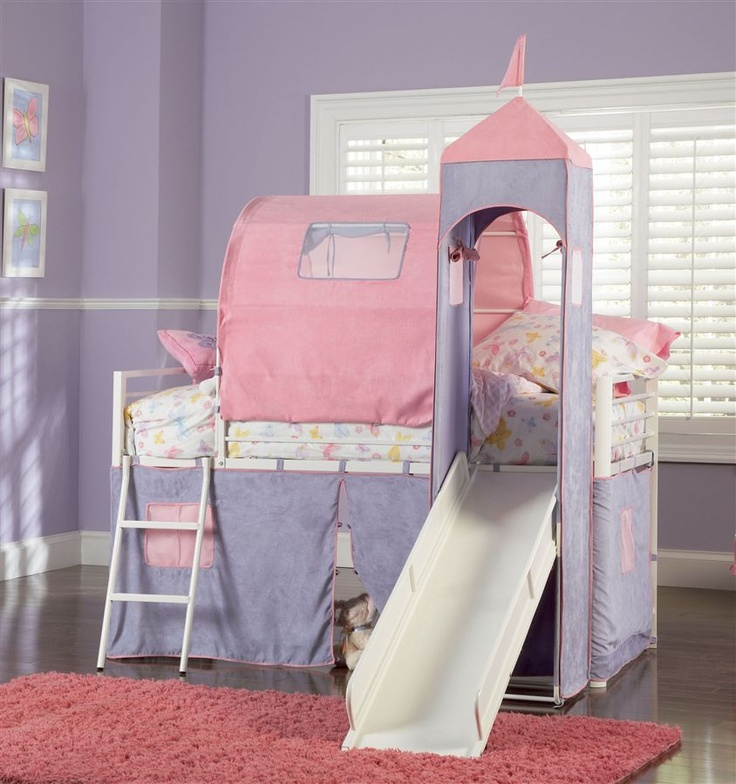 Powell Furniture Princess Castle Twin Size Tent Loft Bed