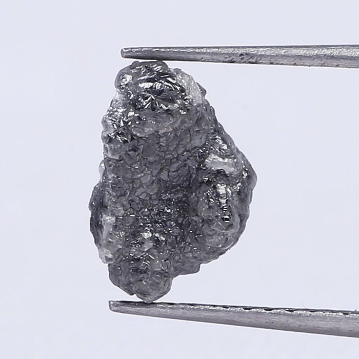 Amazing Gray Color 1.90 Ct Loose Uncut Rough Natural African Diamond