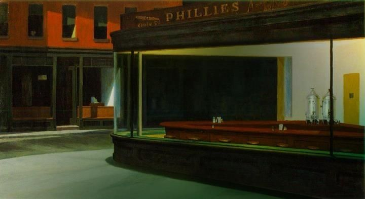 The Mercy Of Roses Empty Nighthawks Oil On Canvas Edward Hopper In 2020 Edward Hopper Nighthawks Hopper