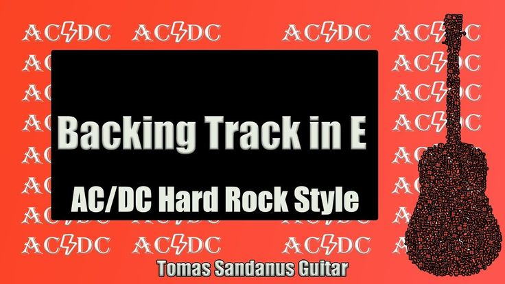 AC/DC Hard Rock Style Guitar Backing Track Jam in E
