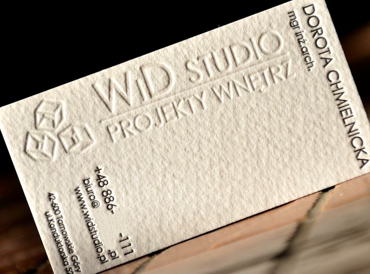 WiD Studio / Interior Design. Black + blind print.