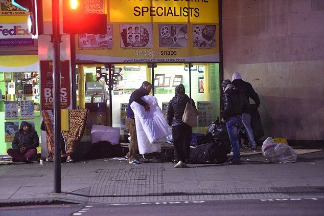 Estimated figures claim that the number of Romanian rough sleepers in the capital has doubled in 12 months