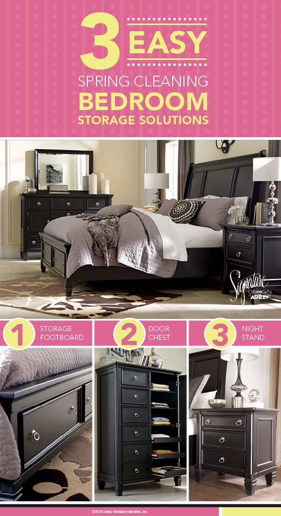 3 Easy Spring Cleaning Bedroom Storage Solutions   Greensburg Queen Sleigh  Bedroom   Furniture and Accessories. 72 best Cozy Bedrooms images on Pinterest   Cozy bedroom  Ashley