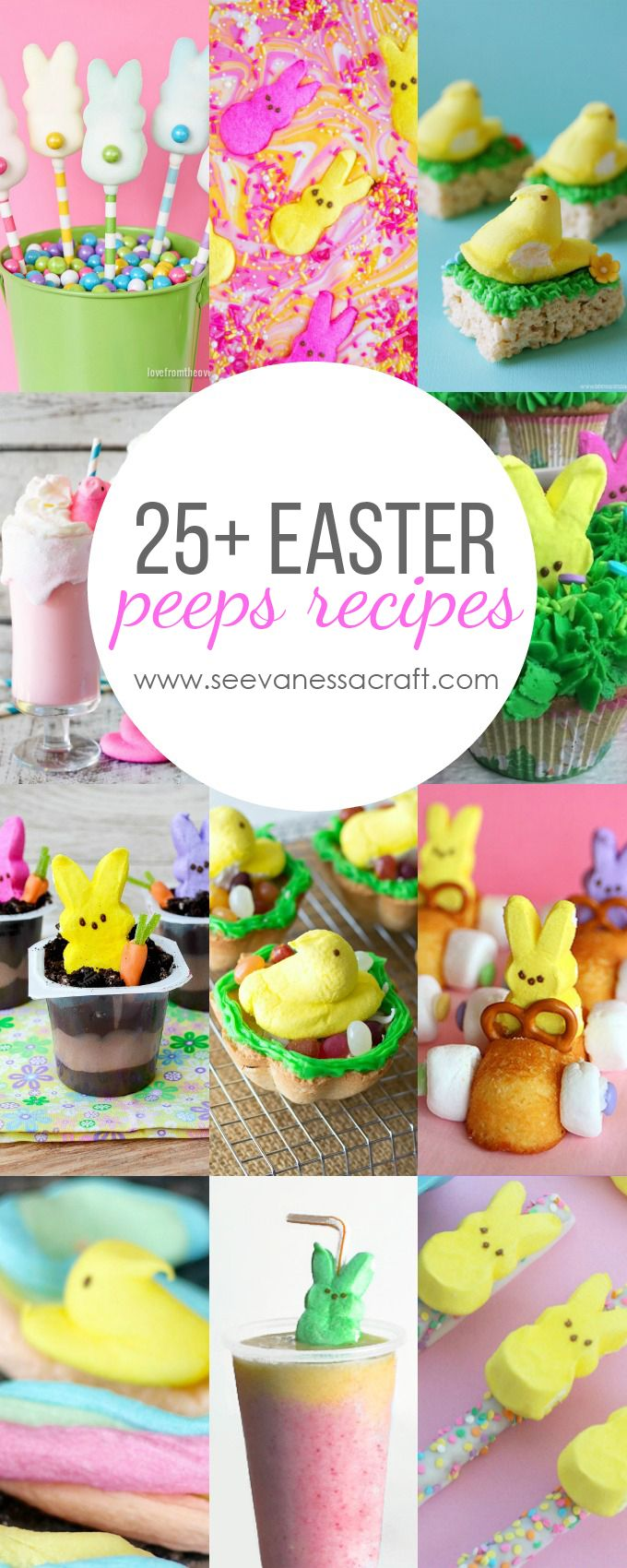 Easter 25 marshmallow peeps recipes cocina vegetariana for Cocina vegetariana