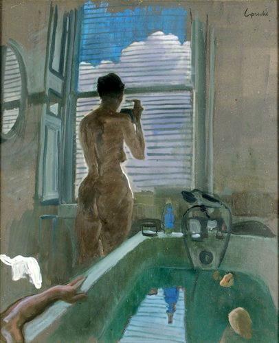 Bath Scene,  Alexander Goudie (1933–2004).