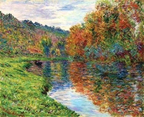 Claude Monet, Le bras de Jeufosse, automne on ArtStack #claude-monet #art