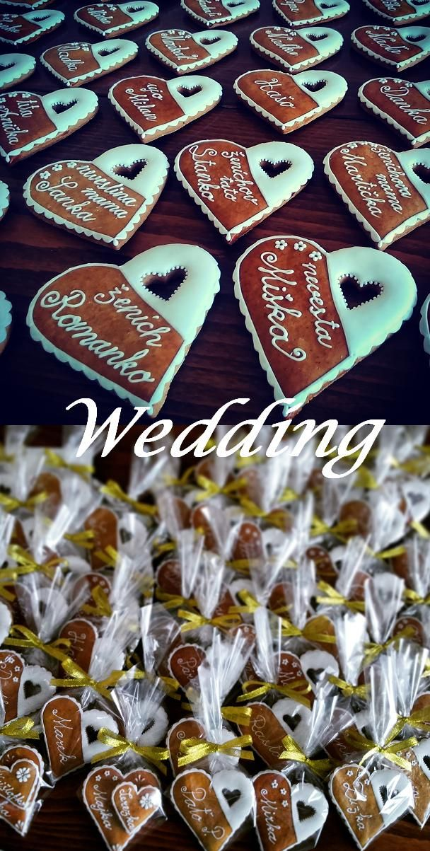 Wedding name tags made of honey cookies. Svatební jmenovky z perníčků. #wedding