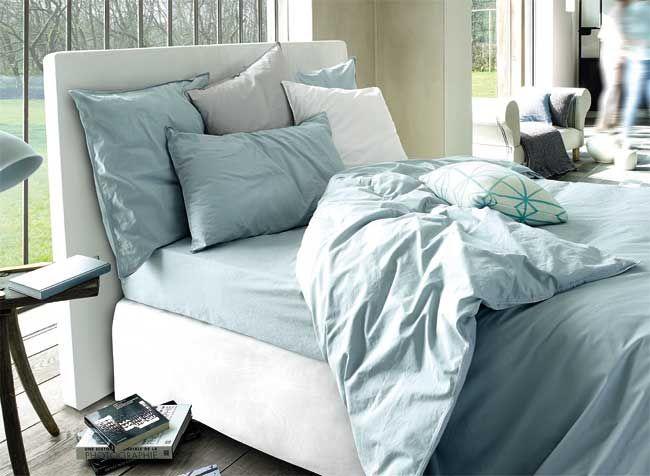 Linge de lit uni Jalla. Parure de lit en satin.