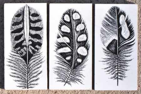 quail feathers for family tattoo