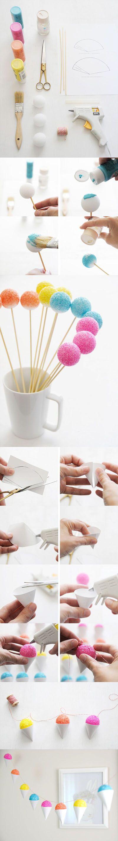 DIY snow cone garland   DIY & Crafts Tutorials