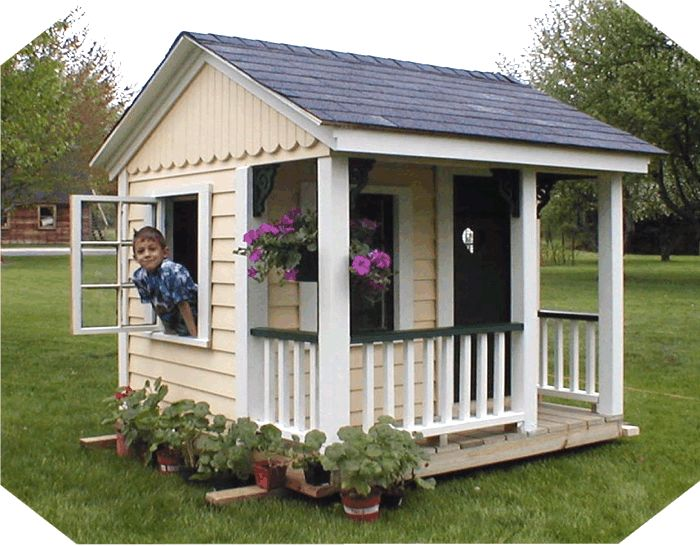 Simple kids playhouse plans woodworking projects plans for Easy to build playhouse