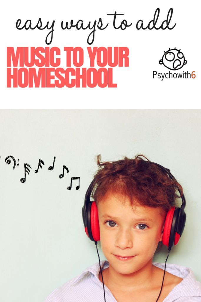 Easy Ways to Add Music to Your Homeschool - https://psychowith6.com/easy-ways-to-add-music-to-your-homeschool/