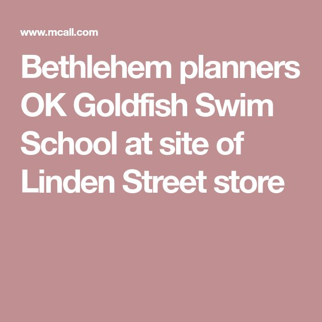 Bethlehem planners OK Goldfish Swim School at site of Linden Street store