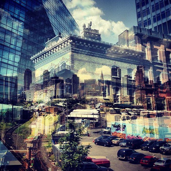 New York City + London: double exposure photos by Daniella Zalcman