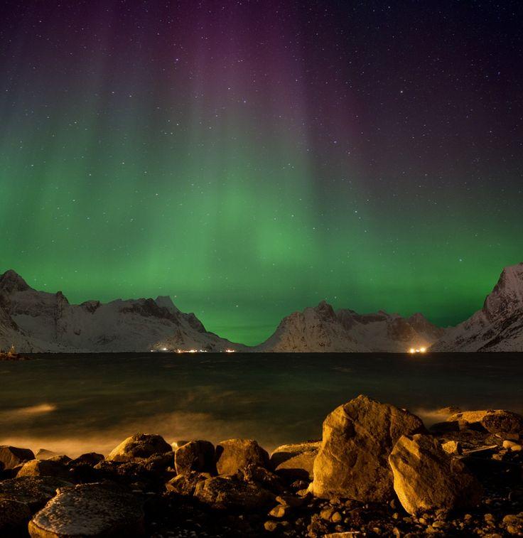 Northern lights over Hamnoy by Richard McManus on 500px