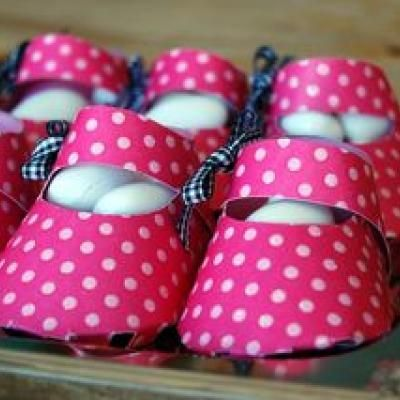 """Baby Shower Favor """"Boxes"""": Cute Baby Booties {has template for girls and boys}"""