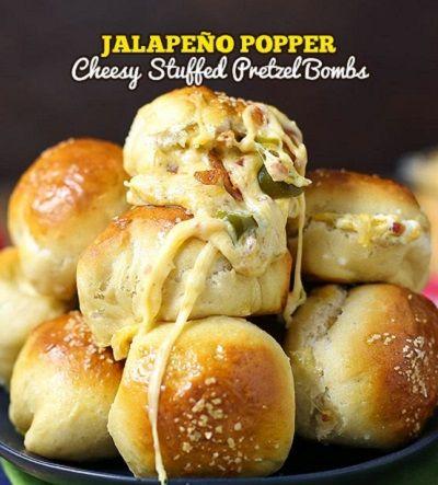 Jalapeño Popper Cheesy Pretzel Bombs