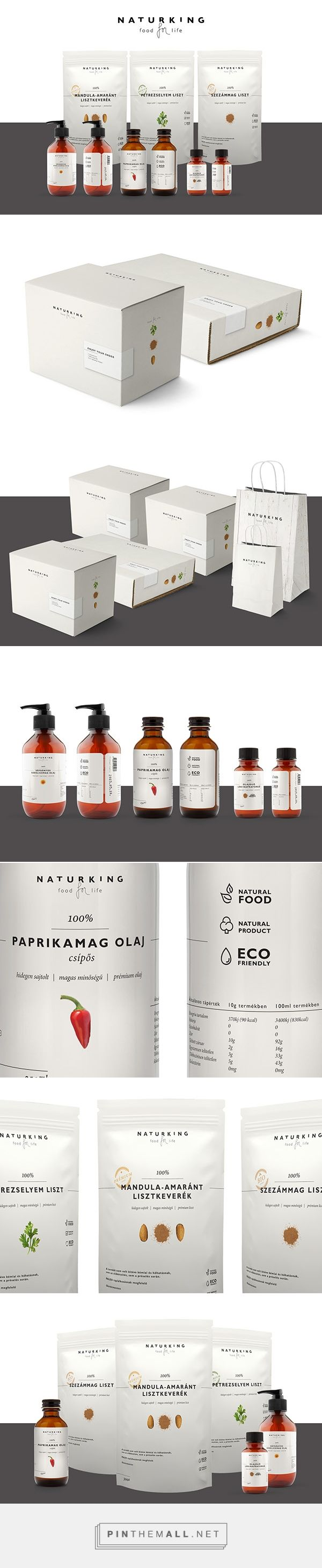 N A T U R K I N G on Behance by Demeces Fanni curated by Packaging Diva PD. This identity packaging concept was made for VITAKING supplements company for new quality food products in Hungary.