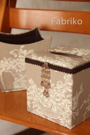 Fabrikoのカルトナージュと布小物:ティッシュボックス