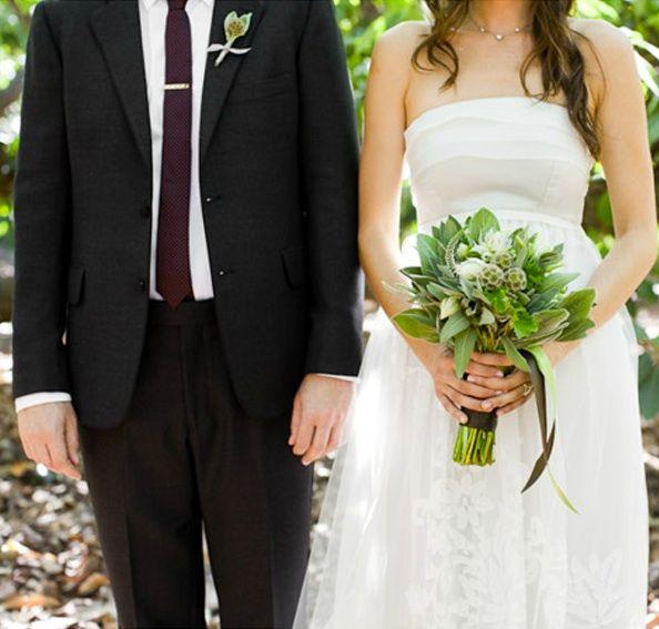 Rustic Ojai Garden Wedding Bride Groom Style Bouquet