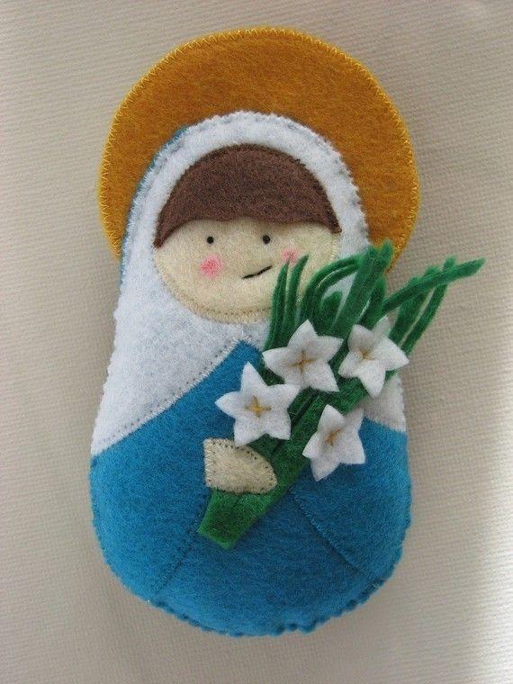 Saint Maria Goretti...Felt Softie. $18.00, via Etsy.