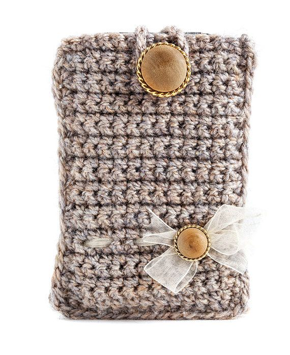 Phone Cover Crochet Phone Case Cotton Phone by GabrielleJustine, £7.50