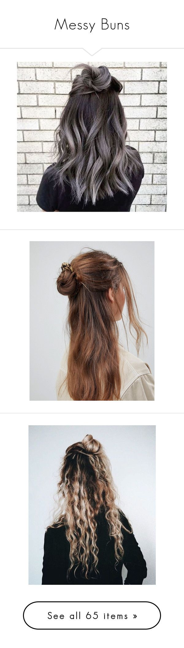 """Messy Buns"" by natalialovesnutella ❤ liked on Polyvore featuring accessories, hair accessories, hair, silver hair accessories, multi, tortoise hair accessories, tortoise shell hair accessories, tortoise hair pins, asos hair accessories and bobby hair pins"