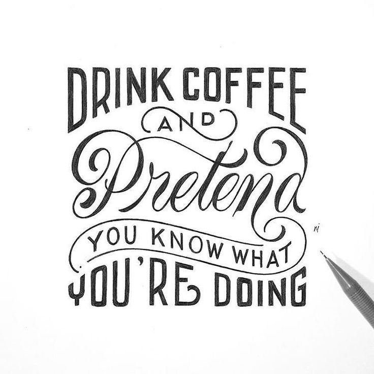 Drink Coffee and Pretend you know what your doing ~ Type by @novia_jonatan - #typegang - free fonts at typegang.com | typegang.com #typegang #typography