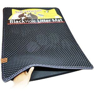 "Amazon.com : Blackhole Cat Litter Mat - Super Size Rectangular 30"" X 23"" (Dark Gray) : Litter Boxes : Pet Supplies"