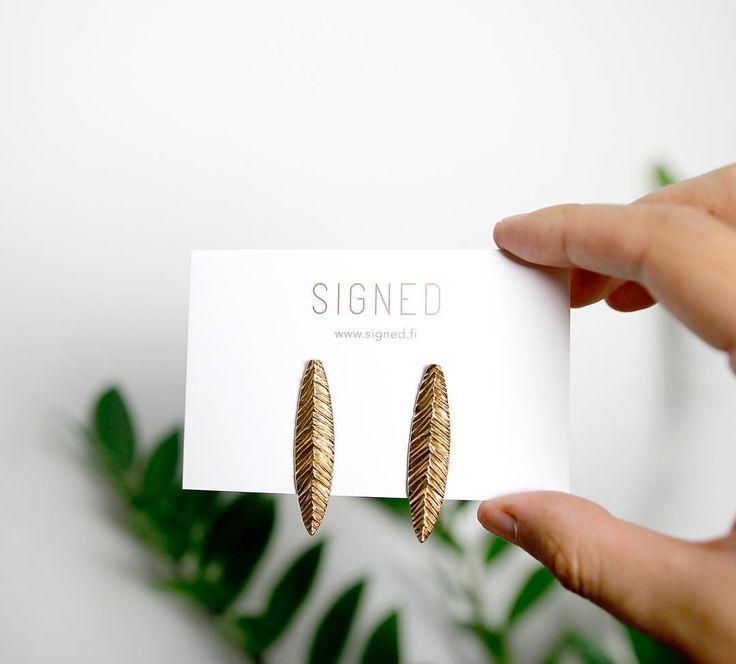 Bronze Petal Earrings // SIGNED