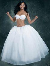 Echte Foto Tulle Petticoat Baljurk Onderrok Jupon Bruiloft Accessoires Rockabilly Petticoat Meisje Quinceanera Hoepelrokken(China (Mainland))