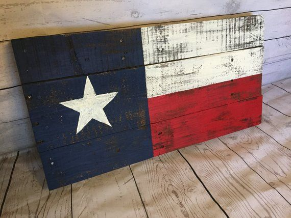 Texas Flag Pallet Sign Recycled Pallet Sign Wooden Texas Art