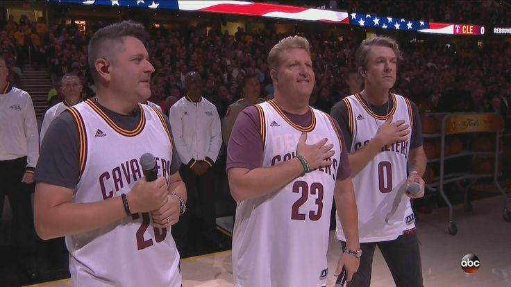 Rascal Flatts singing the National Anthem at the 2017 NBA finals