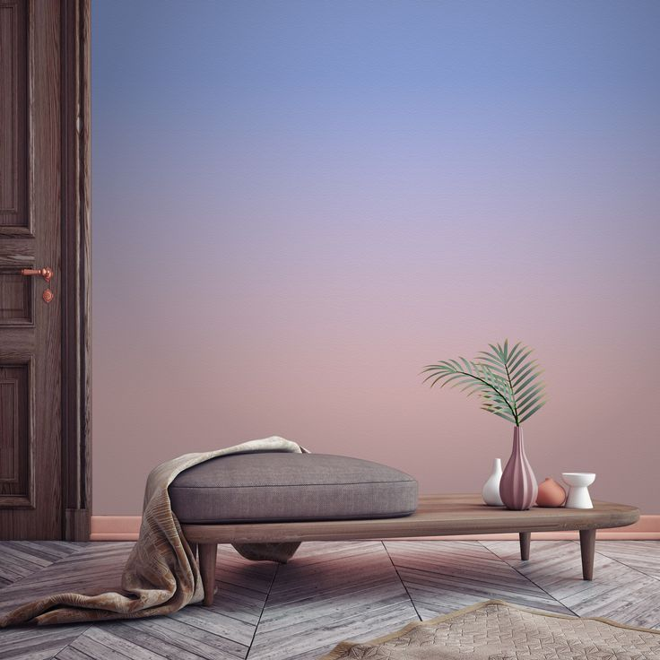 Pantone's colour of the year, Rose Quartz and Serenity. We think it looks absolutely beautiful on the walls, all made possible with this ombre wallpaper design. Paired with earthy tones and pastel pink accessories makes for a wonderful combination.